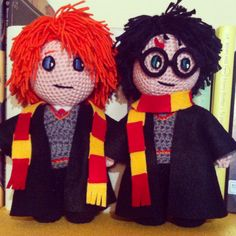 Harry Potter & Ron Weasley, amigurumi