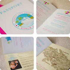 Tropical Passport Destination Wedding Invitation by beyonddesign, $50.00