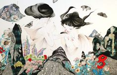 Juxtapoz Magazine - Displaying items by tag: Illustration Art And Illustration, Wonder Art, Painting Collage, Paintings, Japanese Flowers, Human Art, Japanese Artists, Traditional Art, Decoration