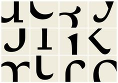 """anatomy of a typeface: details of the typeface Verve, designed by Hubert Jocham for the women's magazine Emotion""""."""