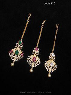 Maang Tikka Designs, Imitation Tikka Designs, Bridal Tikka Designs, Nethi Chutti Designs. Tikka Jewelry, Headpiece Jewelry, India Jewelry, Wedding Jewelry, Gold Earrings Designs, Gold Jewellery Design, Gold Jewelry, Tikka Designs, Latest Jewellery