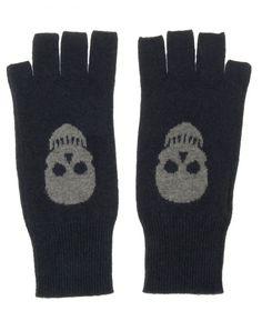Skull Fingerless Gloves - Lyst