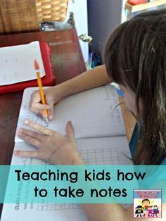 Teaching kids how to take notes