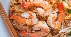 Recette de Pad thaï aux crevettes. Facile et rapide à réaliser, goûteuse et diététique. Ingrédients, préparation et recettes associées.