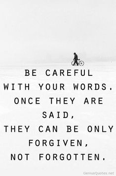 This most especially applies to shit posted online regarding anyone you care about. Take it from me - please - and just don't. Don't do it. Breathe through it and redirect your energy.