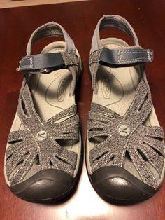 e65dd7b2d0e Keen Sandals Womens Sz 8 Gray Velcro Adjust Hike Casual EUC 1016733   fashion  clothing
