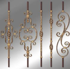 Garde-corps en fer forgé PRESTIGE GRANDE FORGE Iron Stair Railing, Wrought Iron Stairs, Wrought Iron Decor, Escalier Art, Gate Decoration, Welded Furniture, Balcony Railing Design, Door Gate Design, Traditional Staircase
