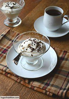 No Bake Sugar-Free Coffee Creme Mousse/ sugarfreemom.com