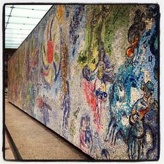 Marc Chagal mosaic at Chase Plaza www.architecture.org #architecture #Chicago