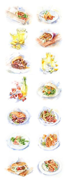 Food illustrations for Campus-cooking