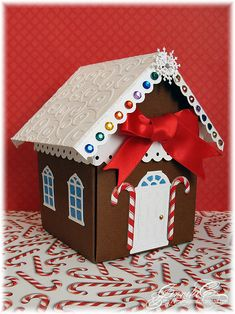 Searchwords: Gingerbread House Explosion Box