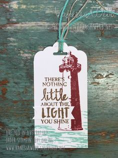 Lighthouse gift-tag using High Tide Stampset from Stampin' Up! - Vanessa Webb Independent Stampin' Up! Demostrator Australia