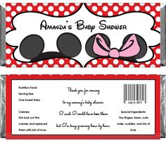 free printable baby shower candy wrappers | cached ...