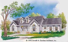Eplans Country House Plan - A Window Wonderland - 1452 Square Feet and 3 Bedrooms(s) from Eplans - House Plan Code HWEPL07180