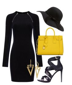 """""""Untitled #154"""" by victorine-b on Polyvore featuring T By Alexander Wang, Yves Saint Laurent, GUESS, women's clothing, women, female, woman, misses and juniors"""