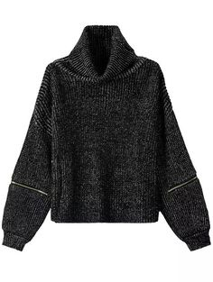 Turtleneck Zipper Loose Sweater 20.67