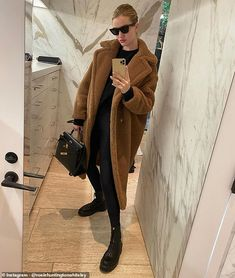 Rosie Huntington-Whiteley has the best personal style. This is where to shop her exact wardrobe including Bottega Veneta, Saint Laurent and Victoria Beckham. Rosie Huntington Whiteley, Gala Gonzalez, Nicky Hilton, Elsa Hosk, Sandro Paris, Bear Coat, Leather Mini Dress, Zara, Black Skinnies