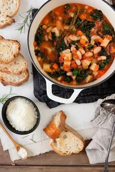 Ribollita Soup is a classic Tuscan hearty bread and bean soup that pairs…