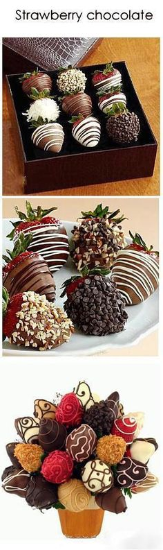 Discover thousands of images about Chocolate & Strawberry. I love these despite everyone admonishing me to refrain from eating them, due to my headaches. Lord, deliver me from this temptation! Yummy Treats, Delicious Desserts, Sweet Treats, Dessert Recipes, Yummy Food, Strawberry Dip, Snacks Für Party, Chocolate Covered Strawberries, Strawberries Garden