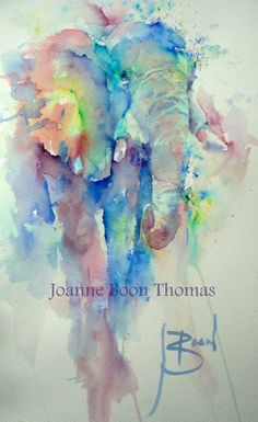 Brusho by Joanne Boon Thomas Watercolor Paintings Of Animals, Paintings I Love, Watercolor Artwork, Watercolor Cards, Animal Paintings, Animal Drawings, Watercolor Flowers, Brusho Techniques, Painting Techniques
