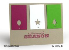 Christmas card - great simple idea for other themes too!