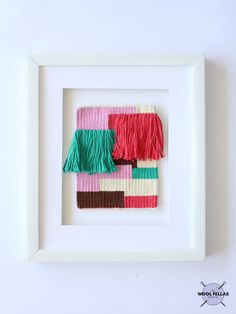 COLORS BLOCKS / Woven wall hanging Tapestry Wall hanging