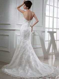 $289.99 Elegant Mermaid Lace Sweetheart Flower Wedding Dresses #Cheap #wedding #dresses #
