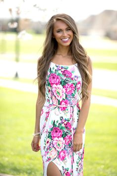 Everything About You Floral Maxi Dress - The Pink Lily