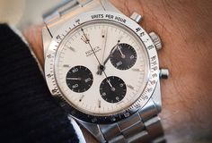 Historical Perspectives: The Very First Rolex Daytona, Explained (Or, What Is A Double-Swiss Underline Daytona?) - HODINKEE Dream Watches, Fine Watches, Sport Watches, Cool Watches, Rolex Watches, Watches For Men, Versace Men, Gucci Men, Hermes Men