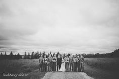 Kristilee + Sam: A Non-Traditional Wedding. Bridal Party
