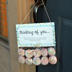 Sweet idea for family/friends going through a rough patch to let them know you're thinking of them!