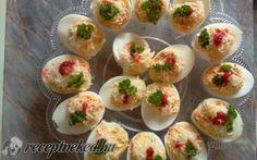 Töltött tojás recept fotóval