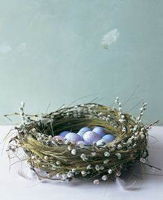 nest centerpiece or candy holder, bowl, etc. party event wedding natural garden