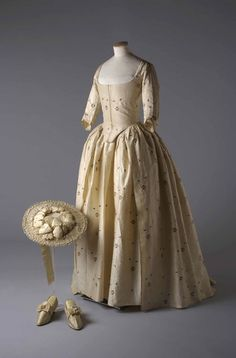 Wedding ensemble, 1780 From the Chertsey Museum via Vogue Paris - Fripperies and Fobs