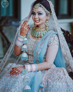 20 Quirkiest Wedding Trends For 2019 That Will Rock Indian Weddings! - 20 Quirkiest Wedding Trends For 2019 That Will Rock Indian Weddings! Indian Bridal Outfits, Indian Bridal Lehenga, Indian Bridal Fashion, Indian Bridal Wear, Blue Bridal, Bridal Style, Bride Indian, Asian Bridal, Wedding Lehnga