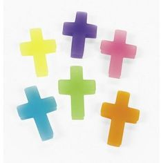 """24 Cross Erasers by OTC. $5.00. Erasers Measure 1.75"""". 24 Cross Erasers. Assorted Colors. 24 Cross Erasers"""