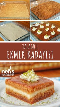 How to Make Bread Kadayif? (with video) - Yummy Recipes - Dessert Bread Recipes Yummy Recipes, Bread Recipes, Yummy Food, Arabic Sweets, Arabic Food, Easy Desserts, Dessert Recipes, Light Snacks, Wie Macht Man
