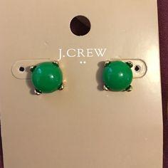 Last one j.crew earrings stud green new New J. Crew Jewelry Earrings