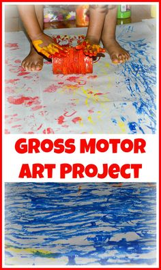Art activity with lots of movement. Open ended and fun for all ages. You can downsize and make in on a smaller scale as well. #artprojects #artactivities