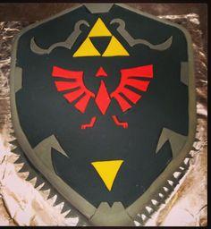 Zelda shield cake