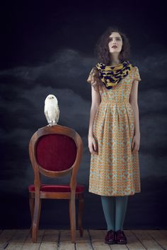 Charlotte Taylor's AW2012 lookbook is amazingly beautiful. Love the storm brewing in the background...