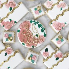The Most Adorable Wedding & Engagement Cookies For Your Sweet Tooth - Wilkie: Hand painted florals take these cookies to the next level!