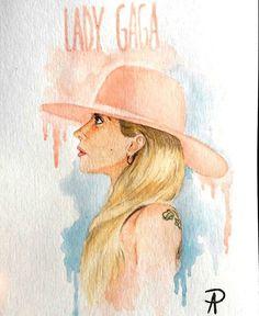 Ilustração da @ladygaga finalizada. Reproduzi a capa do novo álbum dela, toda em watercolor e lápis aquarelavel.  ______________ #watercolor #aquarela #illustration #ilustração #art #artist #arte #love #for #like #diva #pop #lady #ladygaga #new #album #cantora #Joanne #music #musica #color #pink #blue #artista #like #like4like #instagood #insta #night