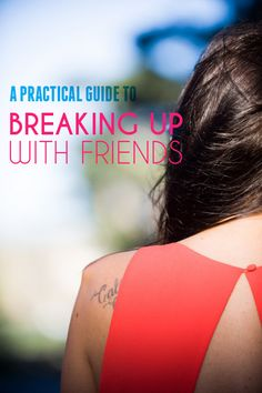 """""""I broke up with a friend last year and it was an extremely painful experience, made worse by the fact that I didn't know how a friend breakup worked. I didn't even know if that was what I was supposed to call it. (De-friending is already taken…chum dumping, perhaps?)"""" —Rachel #friendship"""