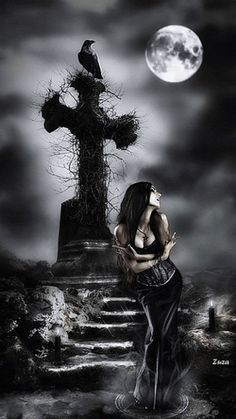 ~ All Things Dark & Beautiful ~ Dark Gothic Art, Gothic Fantasy Art, Gothic Artwork, Gothic Angel, Gothic Fairy, Dark Beauty, Gothic Beauty, Vampires, Gothic Pictures