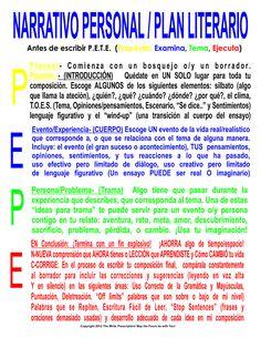 https://flic.kr/p/dHAYg8 | Narrativo Personal / Plan Literario Poster | Spanish…