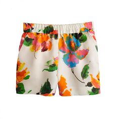 These J. Crew Collection painterly floral shorts are classic wearable art $238, get it here: http://rstyle.me/~pCnA