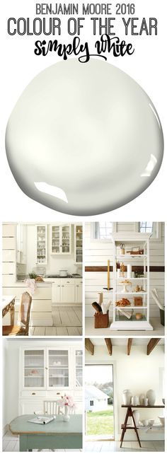 Benjamin Moore 2016 Colour of the Year Simply White #ColorTrends2016 @Benjamin Moore