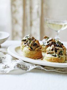 Creamy mushroom vol-au-vents