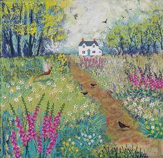 Beautiful Jo Grundy : The path to Foxglove Cottage